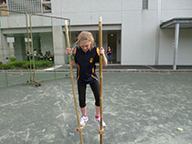 Trying stilts