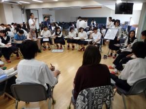 県立広島高校でのディスカッション風景